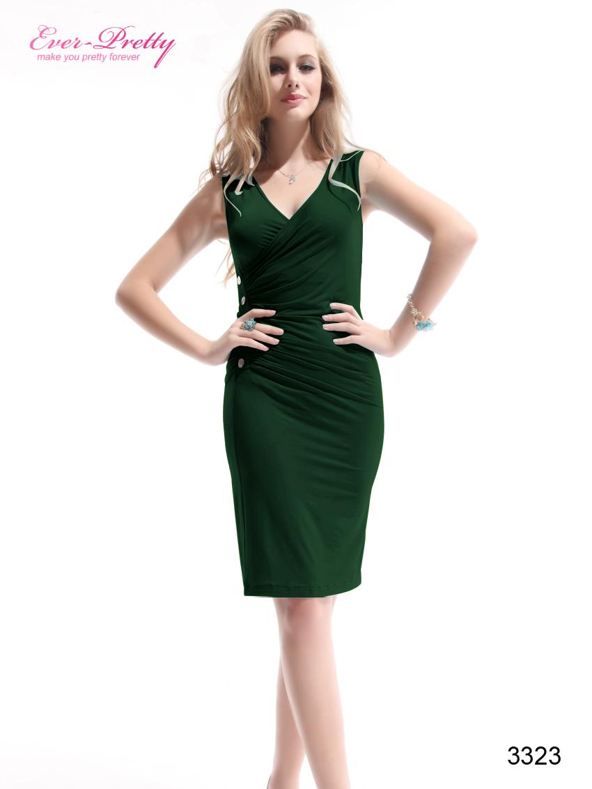 Зеленое платье короткие фото