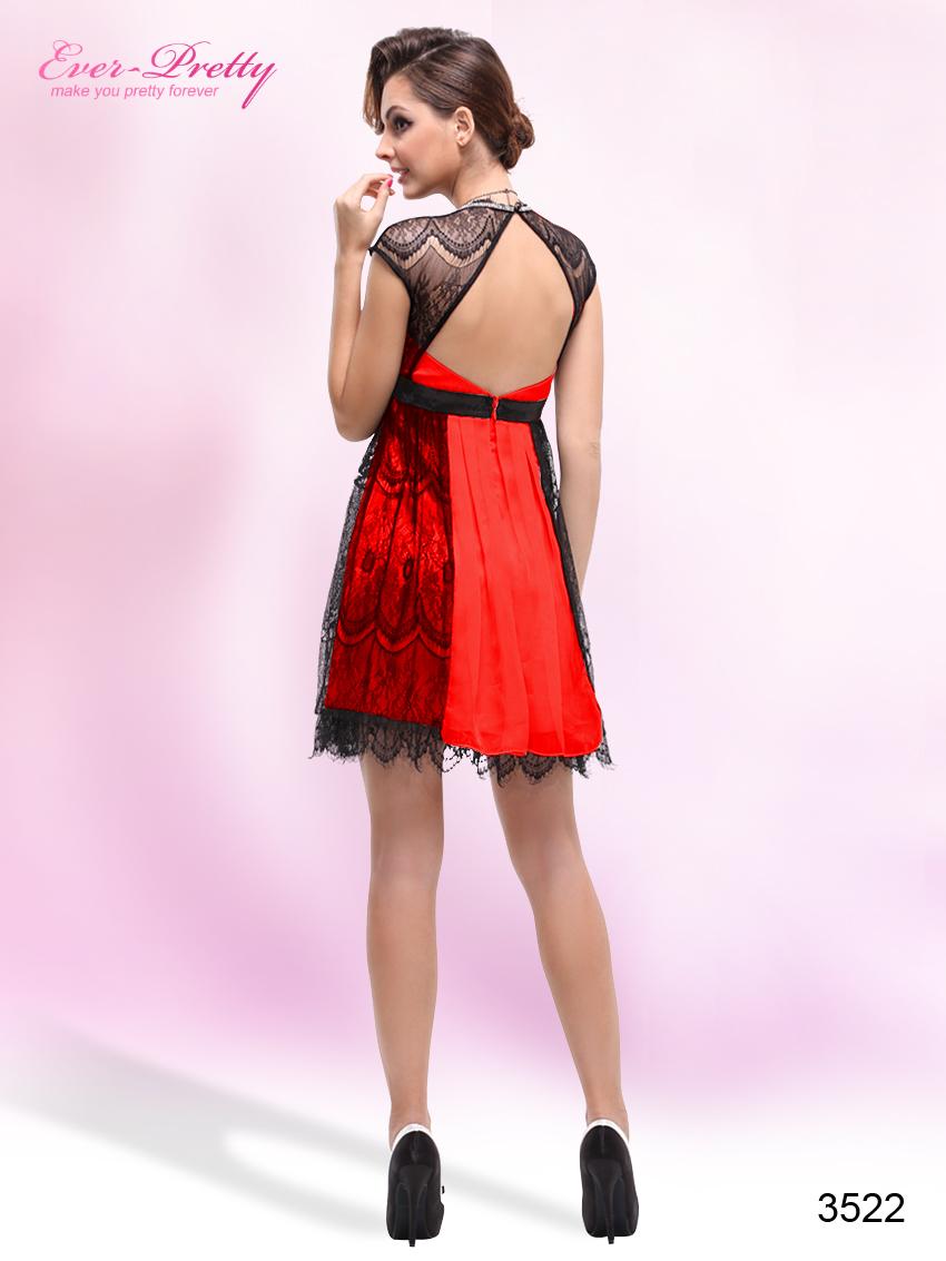 Черно красное платье
