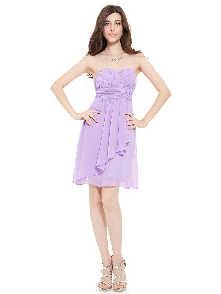 Короткое сиреневое платье купить