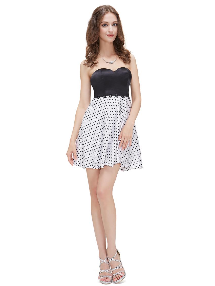 Платья короткие черно белое 49