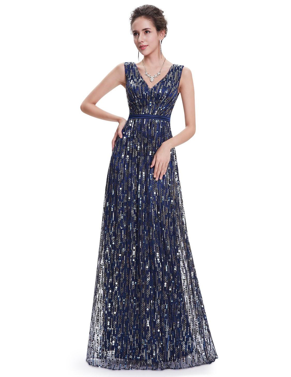 Фото блестящее длинное платье