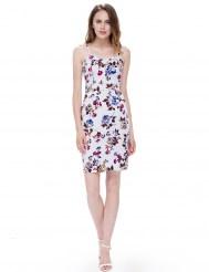 Облегающее хлопковое платье с цветочным принтом