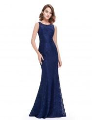 Темно-синее кружевное платье силуэт