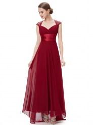 Бордовое вечернее платье с блестками