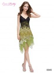 Коктейльное платье с зелёными кружевами