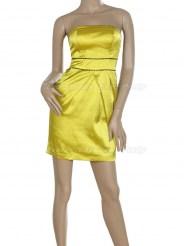 Маленькое жёлтое платье без бретелек