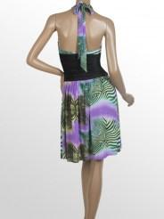 Коктейльное платье с завязками на шее