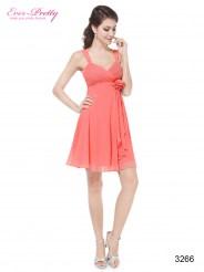 Изысканное розовое платье с цветком