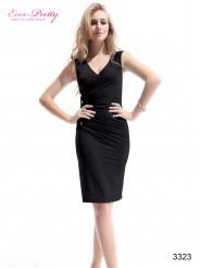 Черное облегающее коктейльное платье