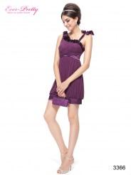 Стильное фиолетовое платье