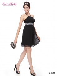 Черное платье с регулируемыми бретелями