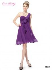 Легкое фиолетовое платье с оборками