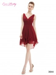 Бордовое шифоновое платье с открытой спиной