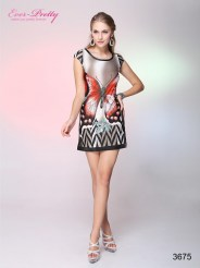 Повседневное платье с принтом-бабочкой