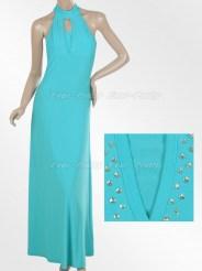Голубое вечернее платье с блёстками