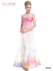 Платье на тонких бретельках с цветочным принтом
