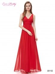 Элегантное шифоновое платье красного цвета