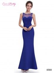 Синее эластичное платье силуэт «русалка»