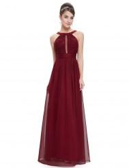 Бордовое платье с кружевом и кристаллами