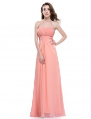 Нежное шифоновое платье персикового цвета