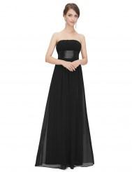 Черное вечернее платье без бретелек