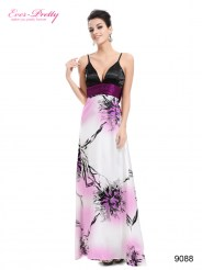 Длинное платье с принтом и бантом на спине