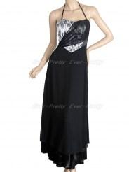 Элегантное платье с тонкими завязками на шее
