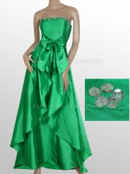 Шикарное ярко-зелёное платье без бретелек
