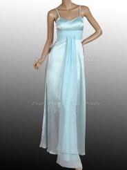 Нежно-голубое платье на тонких бретельках