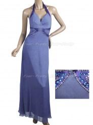 Длинное сиреневое платье с кристаллами