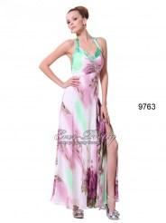 Платье с открытой спиной и разрезом
