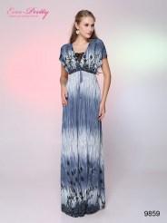 Платье с коротким рукавом и принтом