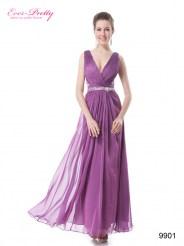 Пурпурное платье со стразами на талии