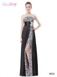 Элегантное платье без бретелек с разрезом
