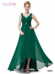 Зеленое вечернее платье с украшением и стразами