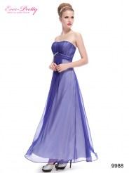 Легкое фиолетовое платье с драпировкой