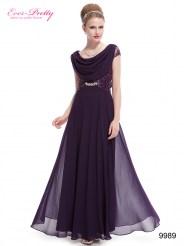 Эффектное фиолетовое платье с кружевом