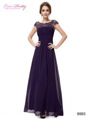 Элегантное фиолетовое платье с кружевным верхом