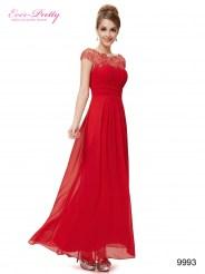 Элегантное красное платье с кружевным верхом